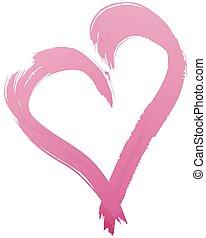 Namalovaný srdeční tvar