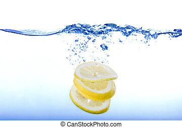 namočit, kaluž, citrón