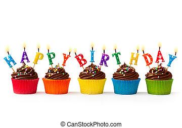 narozeniny, cupcakes