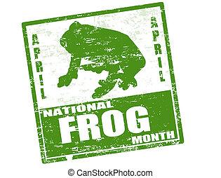 National žabí měsíční razítko