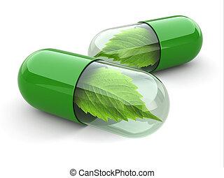 Naturální vitamíny. Alternativní medicína.