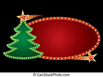 neon, vánoce