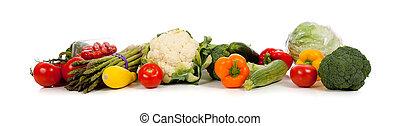 neposkvrněný, řada, zelenina