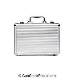 neposkvrněný, kovový, osamocený, kufr