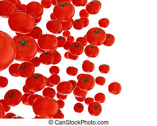 neposkvrněný, osamocený, rajče