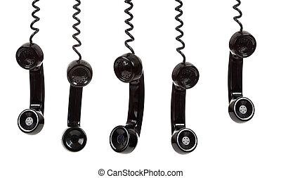 neposkvrněný, temný telefonovat, grafické pozadí, přechovávač