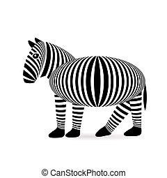 neposkvrněný, zebra, grafické pozadí