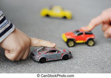 Nevinnost, dětská představa - hraní si s hračkami