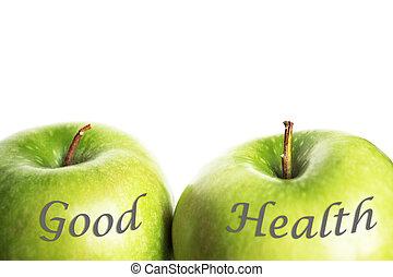 nezkušený, pořádný zdravotní stav, jablko