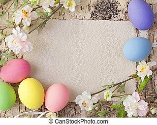 nota, vejce, velikonoční, čistý