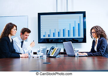 Obchodní jednání v místnosti