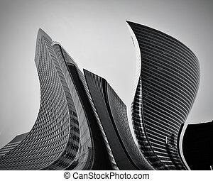 Obchodní mrakodrapy abstraktní architektura