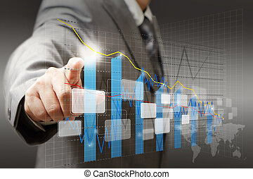 Obchodník se dotknul virtuální graf, graf, diagram