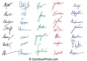 obraznost, podpis
