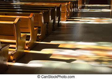 odraz, okna, jádro, barevné sklo, církev