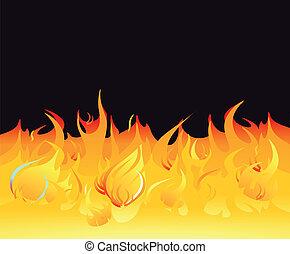 oheň, tajnůstkářský background, jas