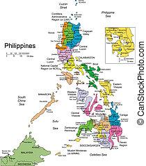 okres, okolní, filipíny, správní, země