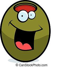 Olive se usmívá