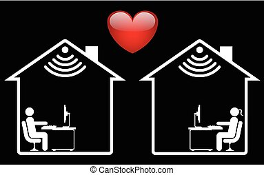 Online randění