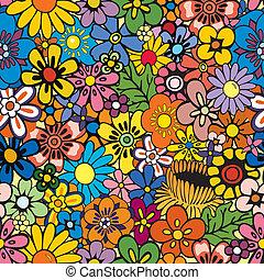 Opakování květinového pozadí