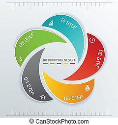 opatřit nápisem, pět, povolání, infographics