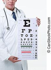 Optometrista drží vizionář