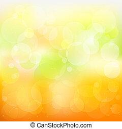 Oranžový vektor a žlutý pozadí