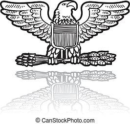 orel, válečný, insignie, su