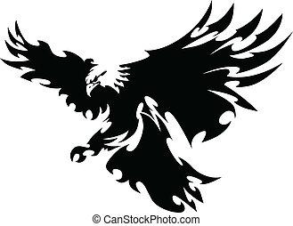 Orlí maskot létající křídla