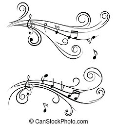 Ornamentální hudební poznámky