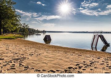 ostende, svet, -, čech, jezero, trebon, republika, pláž