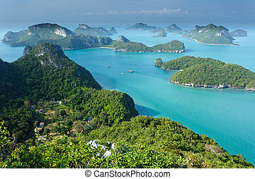 ostrov, angthong, ko, thajsko