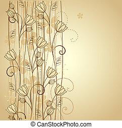 ozdobný, květiny