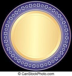 ozdobný stříbro, violet-golden