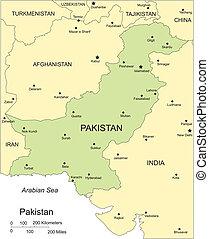 Pákistán, hlavní města, velkoměsta a okolní země