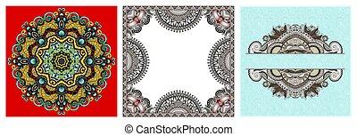 Písmen paisleyových vzorků pro výzdobu na stranu, rám, roh, roh, roh, čára, kruhová vločka
