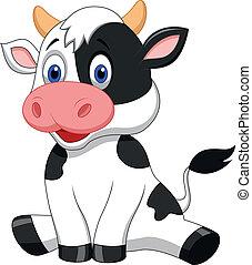 Pěkná kravská kresle