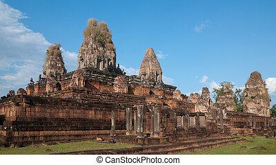 před, sklízet, kambodža, siem, rup, chrám