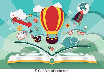 Představa: otevřená kniha