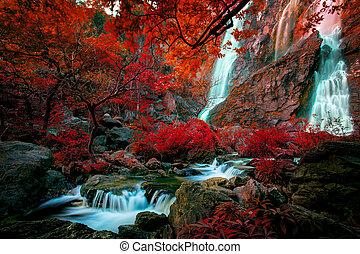 Představte si barevnou barvu klinikové vody, která se řítí v severním břehu řeky