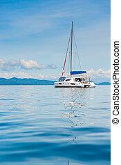 překrásný, kolmice, fotografie, jachta, arkýř, thajsko, rozkoš, názor