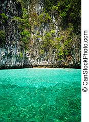 překrásný, konzervativní, thajsko, asie, krabi, moře, jih