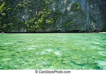 překrásný, konzervativní, thajsko, asie, moře, jih