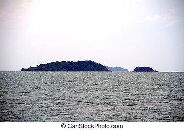 překrásný, konzervativní, thajsko, asie, similan, moře, ostrov
