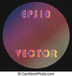 překrásný, spektrum, pralátka, design, emblém, šablona