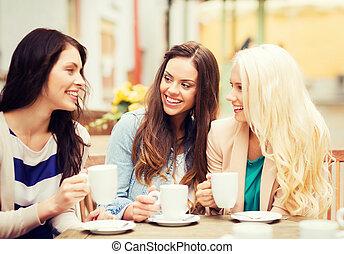 překrásný, zrnková káva, výčep, sluka, pití