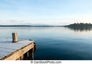 Převrátit klidné jezero