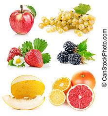 Připravte čerstvé ovoce se zelenými listy