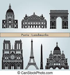 paříž, orientační bod, pomník