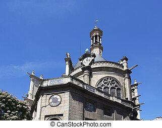 paříž, tradiční, názor, dávný přivést do kostela